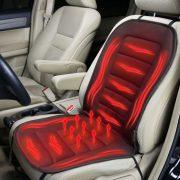 Fűthető autós ülésvédő - szivargyújtó dugóval - fekete (55815B)