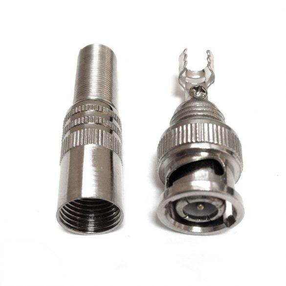 BNC dugó, csavarozható vagy forrasztható (BNC SPR)