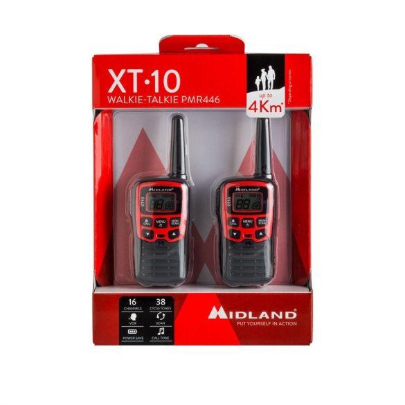 Midland XT10, 4km-es, akkumulátoros adó-vevő, dokkolóval (C1176)