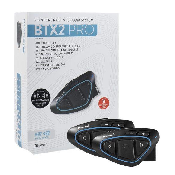 Midland BTX2 PRO Motoros kommunikációs rendszer, 2db (C1231.03)