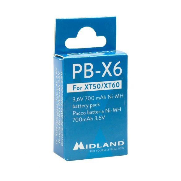 Tartalék akkumulátor, Midland XT50 és XT60-as adó-vevő készülékhez (C1300)