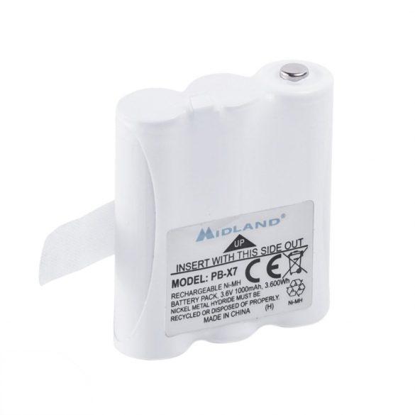Tartalék akkumulátor, Midland XT70-es adó-vevő készülékhez (C1301)