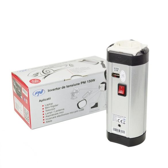 PNI Kis teljesítményű inverter 10-15V->220V (PNI-150WUSB12)