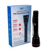 PNI Nagy teljesítményű, profi, vízálló, akkumulátoros, LED lámpa, 30W (PNI-ADVF30)