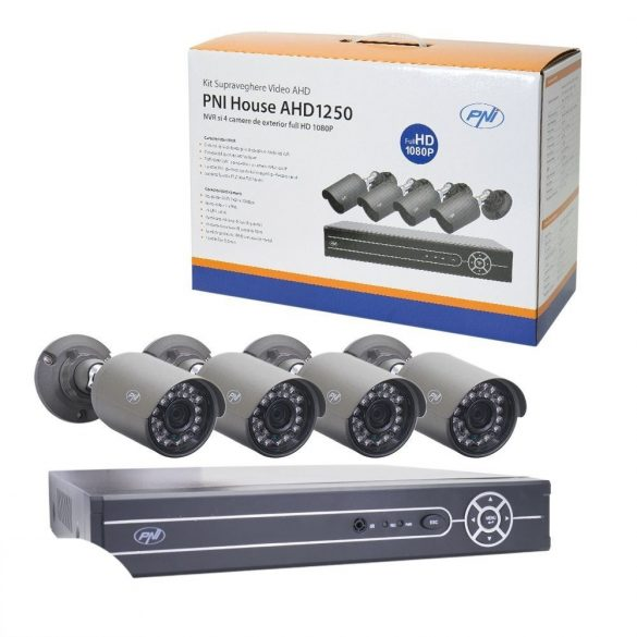 PNI 4 kamerás FullHd, AHD kamerarendszer (PNI-AHD1250)