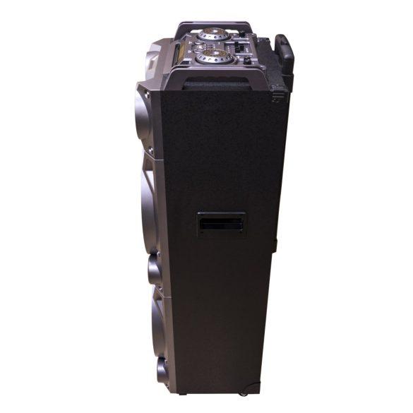 PNI Hordozható, akkumulátoros, 200W, aktív PartyBOX hangfal és médialejátszó, karaokee mikrofonokkal (PNI-BT160)