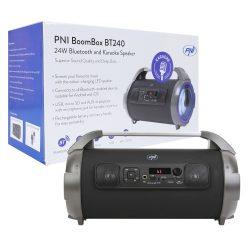 PNI Hordozható karaoke BoomBox hangfal, beépített FM rádióval, lejátszóval (PNI-BT200)