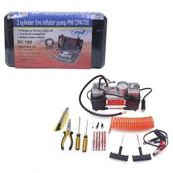 PNI Hordozható defektjavító készlet, kompresszorral (PNI-CPA700)