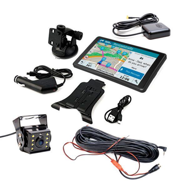 """PNI 7"""" SIM kártyás (4G), Android GPS navigáció menetrögzítő és éjjellátó tolató kamerával (PNI-DH710)"""