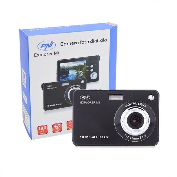 PNI Digitális fényképezőgép színes kijelzővel, 18Mp (PNI-EXP-M1)