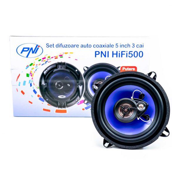 PNI 13cm-es, univerzális, 3 utas autó hangszóró, 4Ohm, 100W (PNI-FI500)