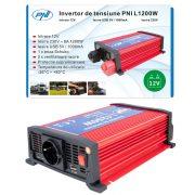 PNI Nagy teljesítményű inverter 12V->220V (PNI-H1200W12)