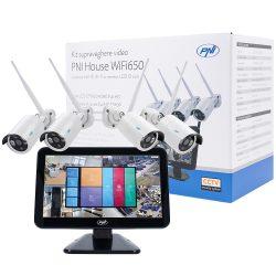 PNI 4 kamerás, 2.0MP-es FullHd, IP Wi-Fi szett LCD monitorral (PNI-HSWIFI650)