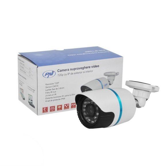 PNI 1.0Mp-es, Hd, fix optikás, IP csőkamera (PNI-IP12MPX)