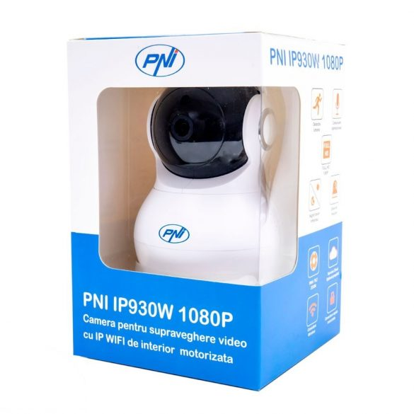 PNI FullHd, mozgáskövetős, éjjellátó, robotkamera beépített WiFi antennával, -10 fokig (PNI-IP930W)