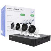 PNI 4 kamerás SuperHd, IP POE kamerarendszer, arcmentés funkcióval, mikrofonokkal (PNI-IPMAX5)