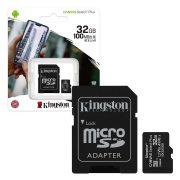 Kingston MicroSDXC 32GB memóriakártya, Class10, UHS-1, 80MB/s+Adapter (PNI-KIMSDXC32)