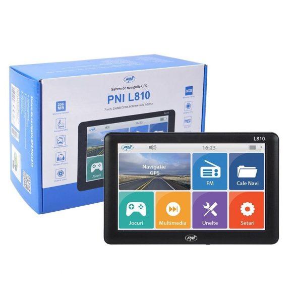 """PNI 7"""" Multimédiás GPS navigáció teljes Európa térképpel (PNI-L810-HM)"""