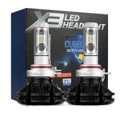 PNI Autós LED fényszóró izzó, H7 X3, 6000K, 6000LM, színfóliával, 2db (PNI-LEDH7-26K)