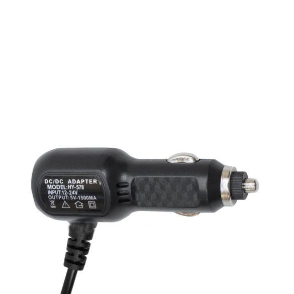PNI Univerzális autós töltőadapter, 12-24V, egyenes mini USB csatlakozóval (PNI-MINIU1A)