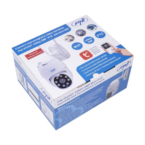 PNI 2.0Mp-es, FullHd, mini, IP robotkamera dupla WiFi-vel, microSd foglalattal, mozgás követéssel (PNI-MIP230)