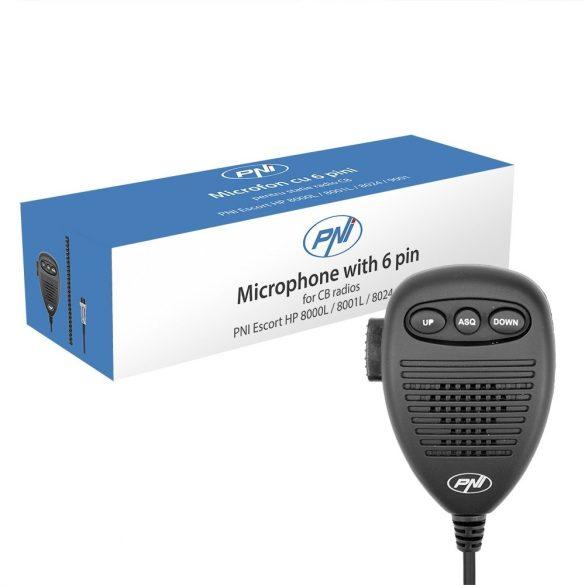PNI 6 PIN-es CB mikrofon (PNI-MK8000)