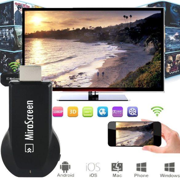 PNI MiraScreen PLUS, vezeték nélküli HDMI jeltovábbító, képernyő tükrözéshez (PNI-MSPLUS)