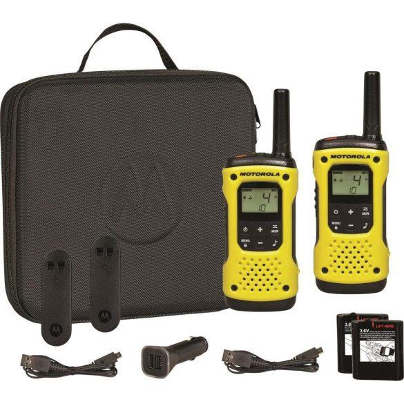 Motorola TLKR T92 vízálló adó-vevő készülék, 10km-es hatótávolsággal (PNI-MTKRT92Y)