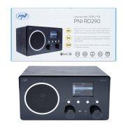 PNI Fa burkolatú, FM/DAB Internetes WiFi rádió, színes kijelzővel (PNI-RD290)