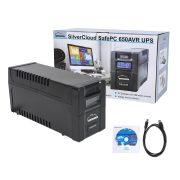 SilverCloud Szünetmentes tápegység LCD kijelzővel 650VA/390W (PNI-SCPC600VA)