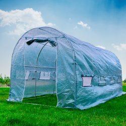 PNI Fóliaház acél szerkezettel, 457x210x210 cm, lehajtható szúnyoghálós ablakokkal (PNI-SG500)