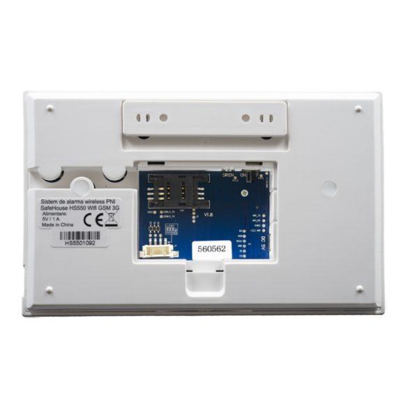 PNI WIFI/GSM riasztórendszer, 2 érzékelővel, szirénával, Rfid kulccsal (PNI-SHS550)