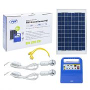 PNI Hordozható napelemes akkubox, beépített rádióval és Mp3 lejátszóval +LED világítással (PNI-SUNH01)