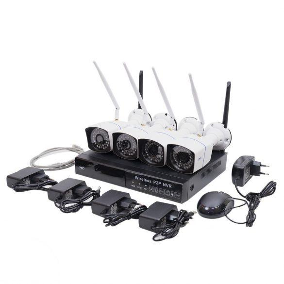 PNI 4 kamerás vezeték nélküli, WiFi-s, Hd IP kamerarendszer (PNI-WF550)