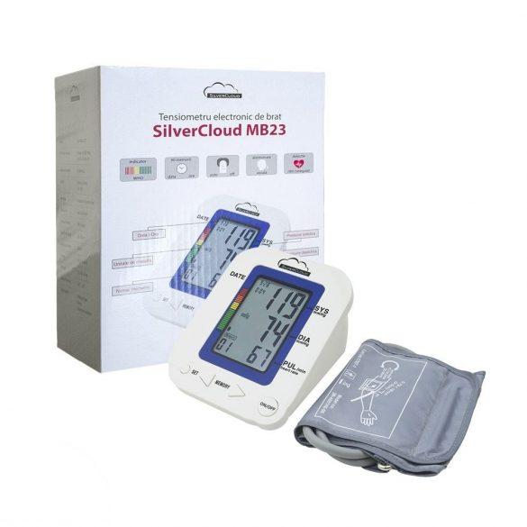 SilverCloud Vérnyomásmérő nagy kijelzővel és hangjelzéssel (SC-MB23)