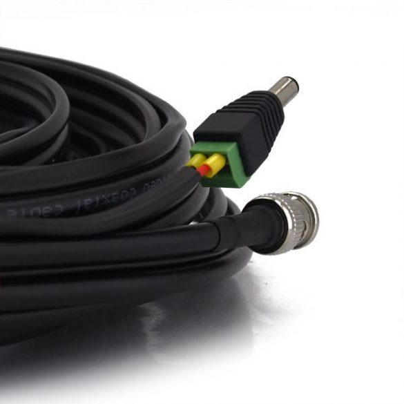 Szerelt profi koax kábel (RG59)+táp 10m (SZKABELDC10)