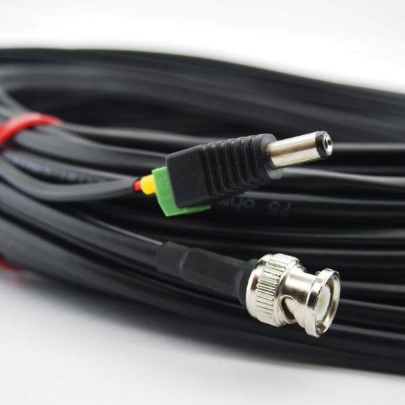 Szerelt profi koax kábel (RG59)+táp 50m (SZKABELDC50)